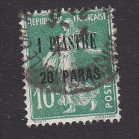 French Offices In Turkey, Scott #43, Used, Sower Surcharged, Issued 1921 - Levant (1885-1946)