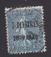 French Offices In Turkey, Scott #46, Used, Sower Surcharged, Issued 1921 - Levant (1885-1946)