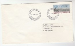 1974 DENMARK FDC Stamps WHO To Germany  Un United Nations Cover - WHO