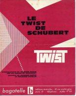 PARTITION PIANO 40-60 LE TWIST DE SCHUBERT DATIN VIDALIN  1961 - Other