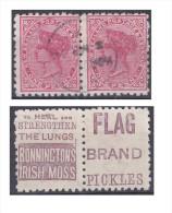 Nouvelle Zélande, Paire Avec Publicité Bonninctons Irish Moss Et Flag Brand Pickles - Gebraucht