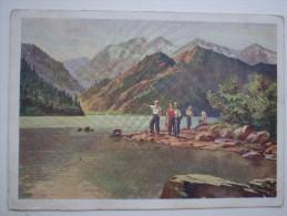 KAZAKHSTAN. Issyk Lake .  Soviet  Postcard - Old Pc 1961 - Rare! - Kazakhstan