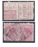 Nouvelle Zélande, Paire Avec Publicité Bonninctons Irish Moss Et Poneke - Gebraucht