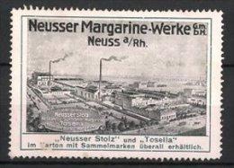Vignette Publicitaire Neuss, Neusser Stolz & Tosella, Neusser Margarine-Werke GmbH, Fabrikgebäude - Cinderellas
