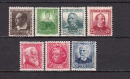 1933 - 1935   EDIFIL  Nº  681 / 688  / * / - 1931-Hoy: 2ª República - ... Juan Carlos I