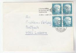 1965 SWITZERLAND COVER Franked 4x 1964 PRO JUVENTUTE Stamps SLOGAN Pmk HEATING & PLUMBING TRADE EXHIBITION - Switzerland