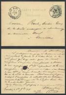CP612 Entier De Gosselies à Courcelles 1888 - Postales [1871-09]