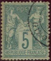 France 67, Used, VF, Sound,  Type I (fr067-10      [16-DE - 1876-1878 Sage (Type I)