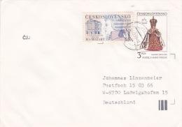 Czechoslovakia 1991 Cover Sent To German, 4kcs Stamp - Czechoslovakia