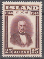 Iceland    Scott No.  241    Unused Hinged      Year  1944 - Ungebraucht