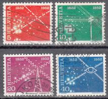 Switzerland    Scott No. 340-43    Used     Year  1952 - Nuovi