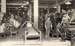 Le PETIT JOURNAL L´Imprimerie Marinoni Très Animée ,ouvriers ELD - Industrie