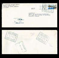 B)1996 MEXICO, VALLE DE BRAVO, STRIP OF 2, 125 ANNIV. OF NATIONAL SCHOOL FOR THE BLIND, CIRCULATED COVER FROM SINALOA DE - Mexico