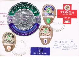 BR 1088 BRIEF TONGA GELOPEN BRIEF ZIE SCAN - Tonga (1970-...)