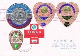 BR 1092 BRIEF TONGA  GELOPEN BRIEF ZIE SCAN - Tonga (1970-...)