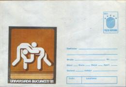 Romania - Postal Stationery Cover 1981 - Wrestling,World University Games Bucuresti 1981 - Ringen