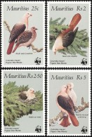 WWF Mauritius 1985 Pink Pigeon Birds MNH - W.W.F.
