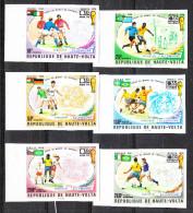 Alto Volta  Haute Volta   -     1974.  Allemagne Winner. Rare Imperf. Fresh Complete Set. - World Cup