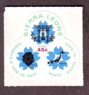 Sierra Leone-45 Cent Expo 70 Osaka Land Of Iron & Diamonds Odd Shaped #T04 - Sierra Leone (1961-...)