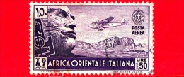ITALIA - Usato - 1938 - Colonie - Africa Orientale Italiana - Serie Pittorica - POSTA AEREA -  Mussolini Ed Aereo 1.50 - Italian Eastern Africa