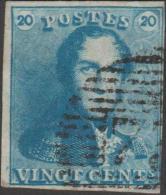 Belgique 1849 COB 2A, 20 C Épaulette Planche II. P 73 Liège - 1849 Epaulettes