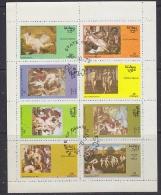 Oman 1973 Paintings  8v In Sheetlet Used (F5130) - Oman