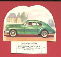 "CHROMO Carte Ou Image à Poser  Grande Bretage BRISTOL Coach ""403"" N° 574 - GROSJEAN LA VACHE SERIEUSE - Old Paper"