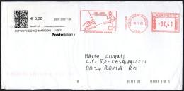 ITALIA SASSO MARCONI 2003 - METER / EMA - CENTENARIO PRIMO COLLEGAMENTO RADIO CAPE COD / POLDHU - MAILED ENVELOPE - Télécom