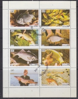 Iso / Swedish Local 1973 Fish 8v In Sheetlet Used (F5136) - Fantasie Vignetten
