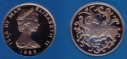 ISLE OF MAN, Elizabeth II - 5 Pence 1982 (b) BABY CRIB  - KM#61 Proof [Scarce Subtype] - Isle Of Man