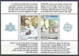 1989 SAINT- MARIN BF 15** Europa, Jeux D'enfants, Marelle - Blocs-feuillets