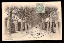 LOT 2 CPA PRECURSEUR- ALGÉRIE- BLIDA EN 1900- RUE DU BEY ET BAIN MAURE + AVENUE BIZOT- ANIMATION- 2 SCANS - Blida