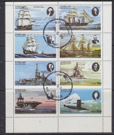 Eynhallow 1976 Ships 8v In Sheetlet Used (F5140) - Fantasie Vignetten