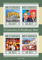 MOZAMBIQUE 2015 ** German Reunification Kohl Gorbachev M/S - OFFICIAL ISSUE - A1611 - Storia