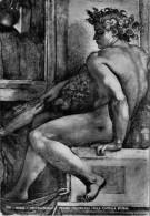 ROMA   MICHELANGELO  FIGURA  DECORATIVA NELLA CAPPELLA  SISTINA      (VIAGGIATA) - Sculture