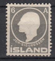 IJSLAND - Michel - 1911 - Nr 6A (Wz 2) - (*) - Neufs