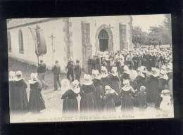 29 Environs De Pont Aven Pardon De Sainte Marguerite La Procession édit. ND N° 117 Animée Religion Coiffe Costume - France