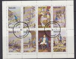 Nagaland 1972  Napoleon 8v In Sheetlet Used (F5142) - Fantasie Vignetten