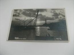 PICCOLO FORMATO GENOVA NAVE SHIP PORTO FOTOGRAFICA TRAMONTO IN PORTO - Chiatte, Barconi