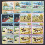 Liberia 1974 UPU 6v Bl Of 4 Used (27691A) - Liberia