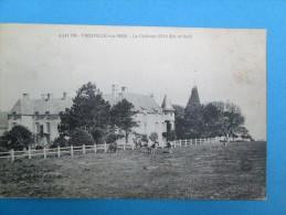 VIERVILLE SUR MER  Le Chateau Coté Est & Sud  1913 - Autres Communes