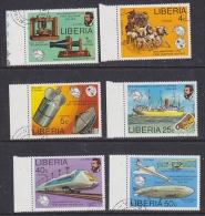 Liberia 1976 1st Telephone 6v Used (27693) - Liberia