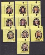Liberia 1982 US Presidents 10v Used (27694) - Liberia