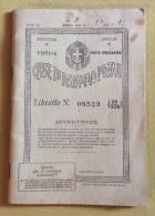 Libretto Cassa Di Risparmio Postali Del 21/01/1937 - Banque & Assurance