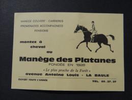 TICKET MANEGE DES PLATANES Fondé En 1928 - LA BAULE - Avenue Antoine Louis / équitation Cavalier Cheval - Tickets D'entrée