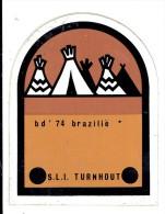 Sticker - Broederlijk Delen 1974 - Brazilië - Sint Lutgardis Instituut - Turnhout - Autocollants