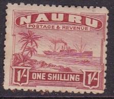 NAURU 1924 Freighter Sc 27a Mint Hinged Toned - Nauru