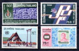 Thailand - 1968/77 - 4 Single Stamp Issues - MH - Thaïlande