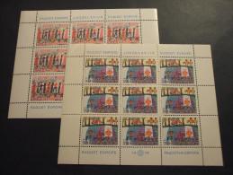 YUGOSLAVIA - 1978 GIOIE D´EUROPA  2 BF, In Minifoglietti Di 9 - NUOVI(++) - Blocs-feuillets