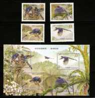 2008 Conservation Of Birds Stamps & S/s -Taiwan Blue Magpie Bird Forest Tung Flower Bug Snake - Snakes